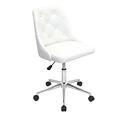 LumiSource Marche Office Chair, White