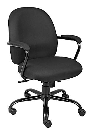 Boss Heavy-Duty Mid-Back Task Chair, Black