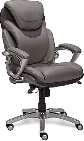 Serta® AIR™ Health & Wellness Ergonomic Executive Office Chair, Light Grey