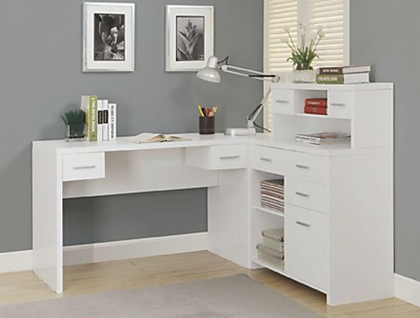 """Monarch Specialties Jade 59""""W Computer Desk, White"""