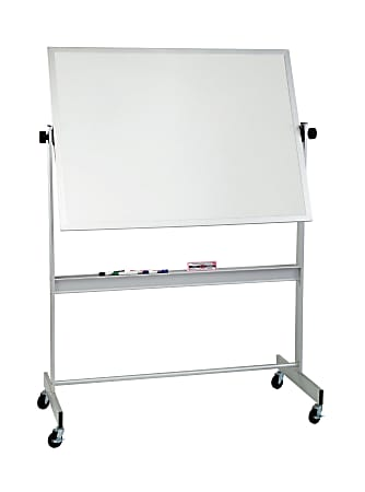 "Balt® Best Rite® Magnetic Porcelain Dry-Erase Whiteboard, 48"" x 60"", Aluminum Frame With Silver Finish"