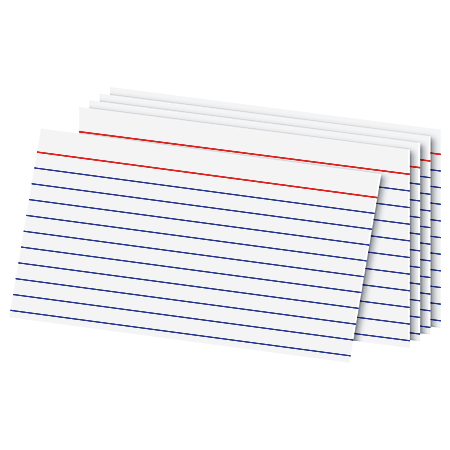 """Office Depot® Brand Index Cards, 3"""" x 5"""", Ruled, White, 100"""
