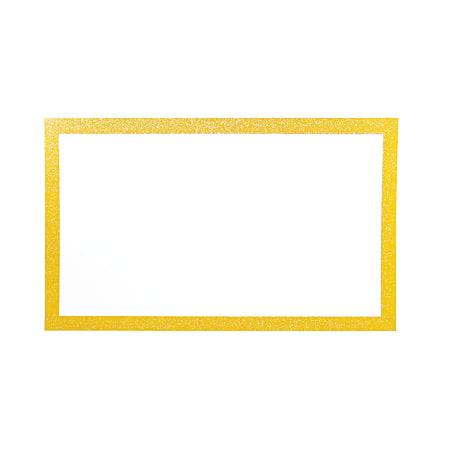 """Artskills® Glitter-Framed Poster Board, 13"""" x 22"""", Gold/White"""