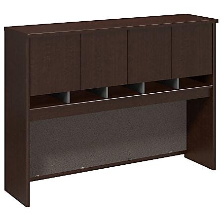 "Bush Business Furniture Components Hutch 60""W, Mocha Cherry, Standard Delivery"