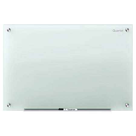 "Quartet® Infinity™ Tempered Glass Unframed Non-Magnetic Dry-Erase Whiteboard, 48"" x 36"", Frosted"