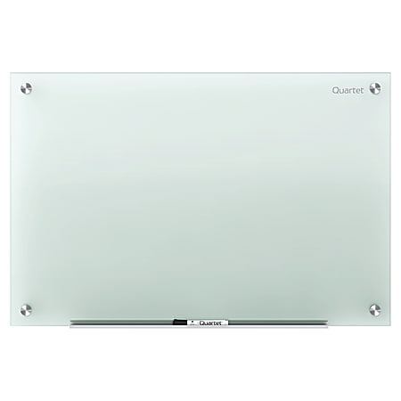 "Quartet® Infinity™ Tempered Glass Unframed Non-Magnetic Dry-Erase Whiteboard, 72"" x 48"", Frosted"