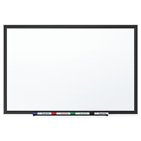 "Quartet® DuraMax® Porcelain Magnetic Dry-Erase Whiteboard, 72"" x 48"", Aluminum Frame With Black Finish"