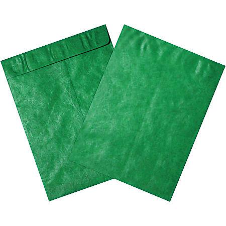 """Office Depot® Brand Tyvek® Envelopes, 10"""" x 13"""", Green, Pack Of 100"""