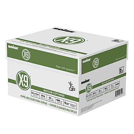 "Boise® X-9® Multi-Use Copy Paper, Legal Size (8 1/2"" x 14""), 92 (U.S.) Brightness, 20 Lb, White, 500 Sheets Per Ream, Case Of 10 Reams"