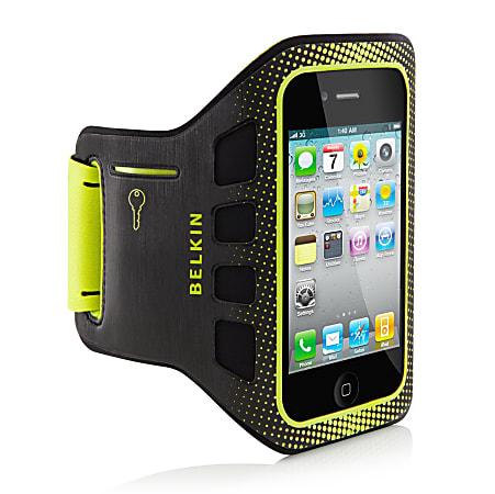 Belkin® Easefit Armband For Apple® iPhone® 4, Black/Lime