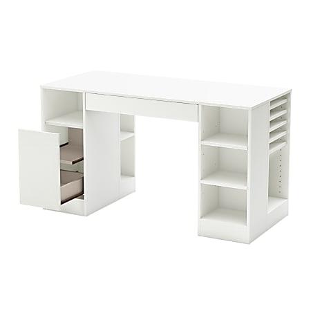 South Shore Furniture Crea Craft Table, Pure White