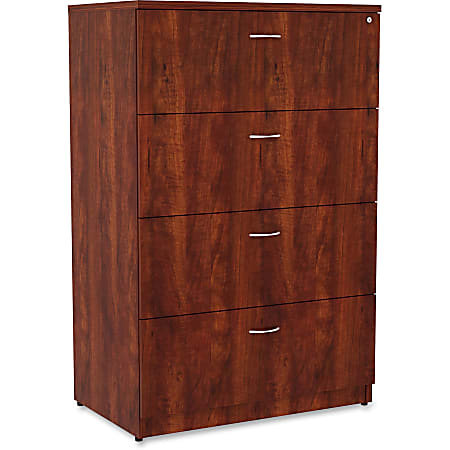 """Lorell® Essentials 36""""W Lateral 4-Drawer File Cabinet, Cherry"""