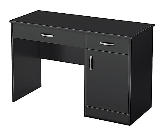 """South Shore Axess 43-3/4"""" Computer Desk, Pure Black"""