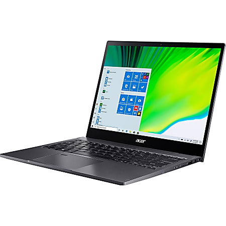 """Acer Spin 5 SP513-54N SP513-54N-70PU 13.5"""" Touchscreen 2 in 1 Notebook - 2256 x 1504 - Intel Core i7 i7-1065G7 Quad-core 1.30 GHz - 16 GB RAM - 512 GB SSD - Steel Gray - Windows 10 Pro - Intel Iris Plus Graphics - 15 Hour Battery"""