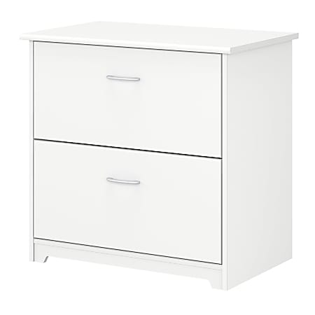 """Bush Business Furniture Cabot 30-1/4""""W Lateral 2-Drawer File Cabinet, White, Standard Delivery"""