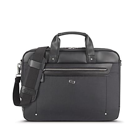"Solo Irving Slim Briefcase With 15.6"" Laptop Pocket, Black"