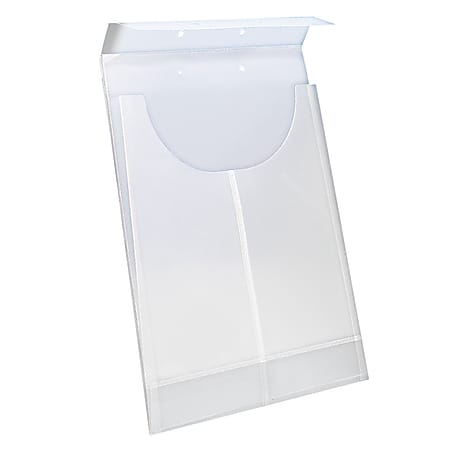 Smead 2-Hole Punched Poly Retention Jacket, Letter/Legal, Clear, Box of 24