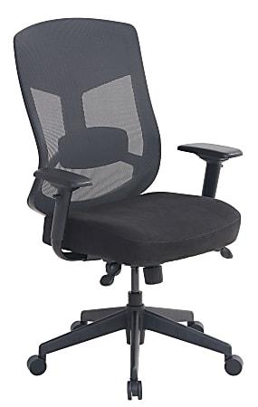 Serta® Commercial Motif Mesh Ergonomic Big And Tall High-Back Executive Chair, Black