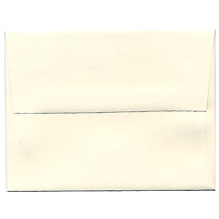 JAM Paper® Booklet Invitation Envelopes, A2, Gummed Seal, Strathmore Natural White, Pack Of 25