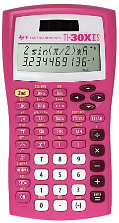 Texas Instruments® TI-30X IIS Solar Scientific Calculator, Pink