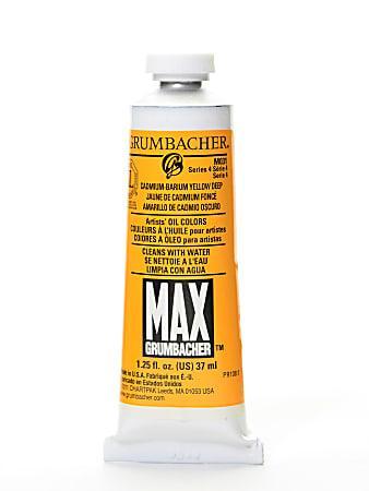 Grumbacher Max Water Miscible Oil Colors, 1.25 Oz, Cadmium Barium Yellow Deep