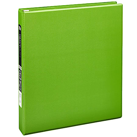 """Office Depot® Heavy-Duty 3-Ring Binder, 1"""" D-Rings, 49% Recycled, Army Green"""