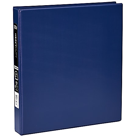 """Office Depot® Brand, Heavy-Duty 3-Ring Binder, 1"""" D-Rings, 49% Recycled, Navy"""