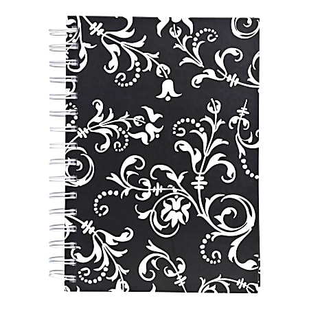 """Eccolo™ Wiro Journal, 8 1/2"""" x 11"""", Ruled, 200 Pages, Black/White"""