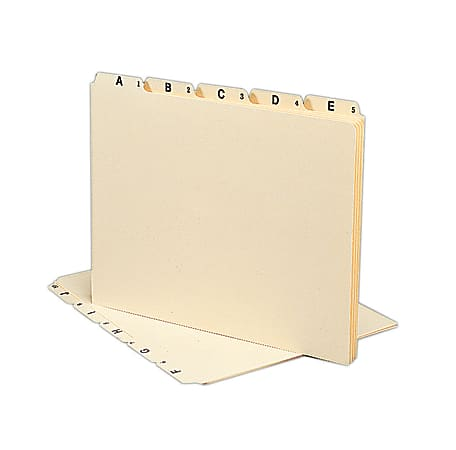 Smead® Manila A To Z File Guides, Letter Size, Manila, Pack Of 25