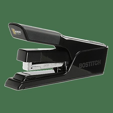 Stanley® Bostitch EZ Squeeze 40 Desk Stapler, Flat Clinch, Fast Load, Black
