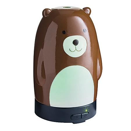"Airome Ultrasonic Essential Oil Diffuser, 6-1/4"" x 3-3/4"", Teddy Bear"