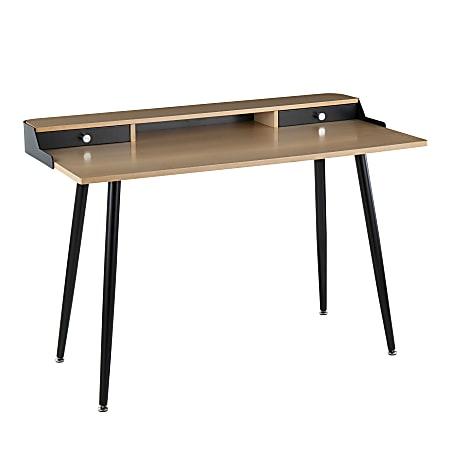 "LumiSource Harvey 48""W Desk, Black/Natural"