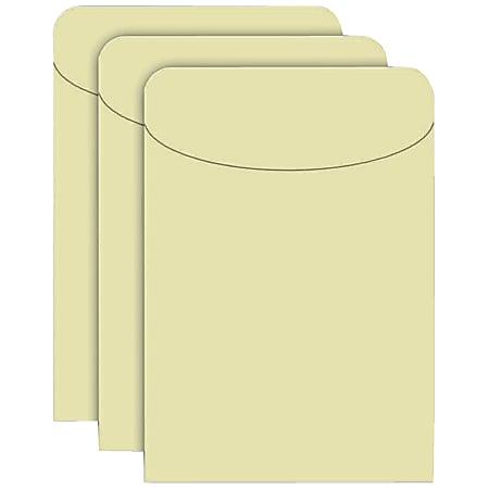 "Top Notch Teacher Products® Manila Pockets, 5 1/2"" x 3 1/2"", Manila, Case Of 500"