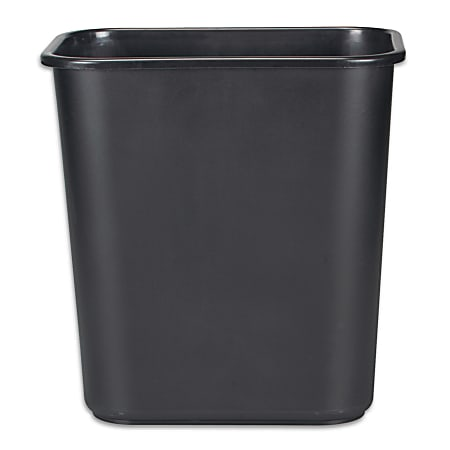 Rubbermaid® Durable Polyethylene Wastebasket, 7 Gallons, Black