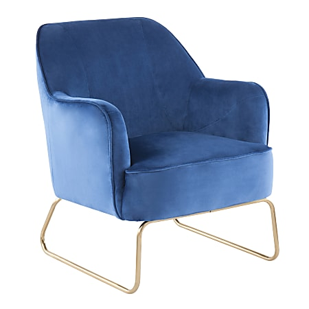 LumiSource Daniella Contemporary Accent Chair, Blue/Black