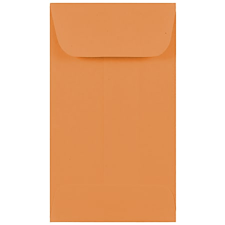 JAM Paper® Coin Envelopes, #3, Gummed Seal, Brown Kraft, Pack Of 25