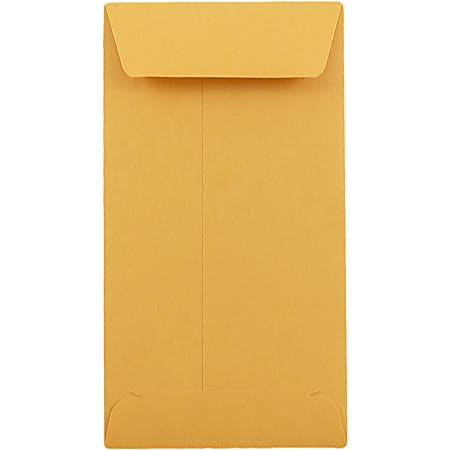 JAM Paper® Coin Envelopes, #5, Gummed Seal, Brown Kraft, Pack Of 25
