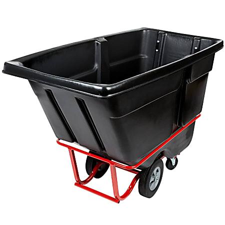 "Rubbermaid Commercial 1250 lb Capacity Standard Duty Tilt Truck - 1250 lb Capacity - x 33.5"" Width x 72.2"" Depth x 43.8"" Height - Black - 1 Each"