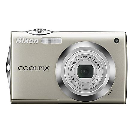 Nikon® Coolpix® S4000 12.0-Megapixel Digital Camera, Champagne Silver