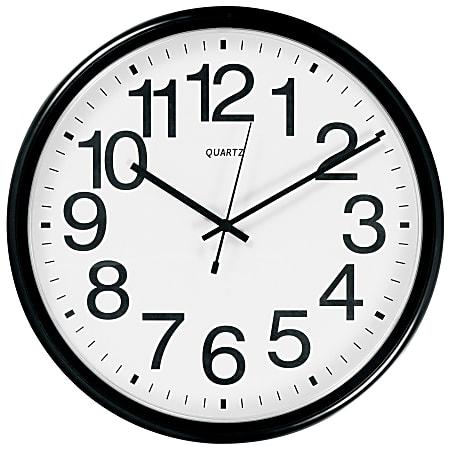 TEMPUS Commercial Wall Clock, Black