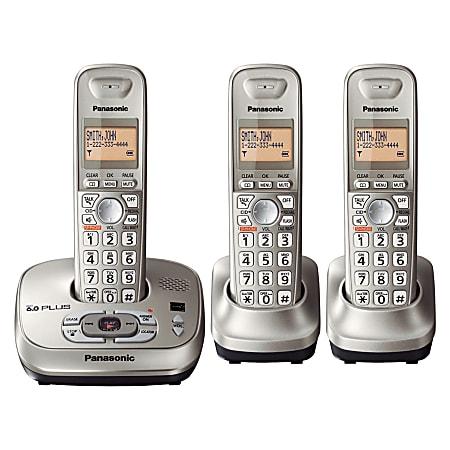 Panasonic® KX-TG4023N DECT 6.0 PLUS Digital 3-Handset Cordless Phone With Digital Answering System, Silver