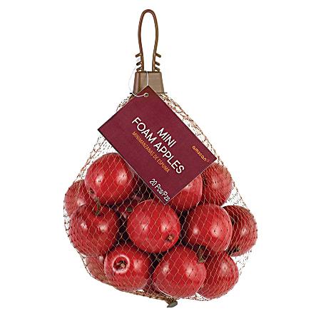 """Amscan Foam Fall Bag of Mini Apples, 1-4/5"""", 2 Per Pack, Carton of 20 Packs"""