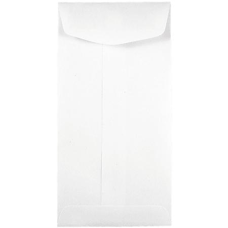 JAM Paper® Coin Envelopes, #7, Gummed Seal, White, Pack Of 25