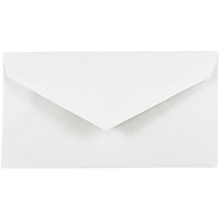 JAM Paper® Booklet Envelopes, #7 3/4 Monarch, Straight Flap, Gummed Seal, White, Pack Of 25