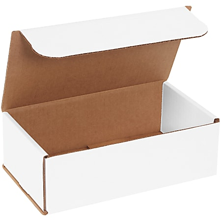 """Office Depot® Brand Corrugated Mailers 9"""" x 5"""" x 3"""", White, Bundle of 50"""