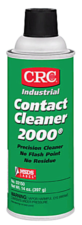 CRC Contact Cleaner 2000® Precision Cleaner, Tapered Cap, 13 Oz Can, Case Of 12