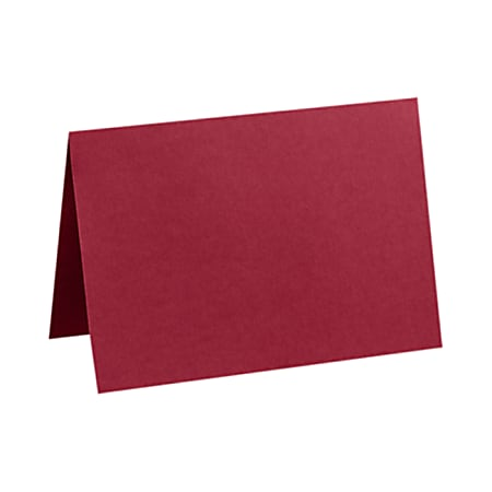 """LUX Folded Cards, A1, 3 1/2"""" x 4 7/8"""", Garnet Red, Pack Of 500"""
