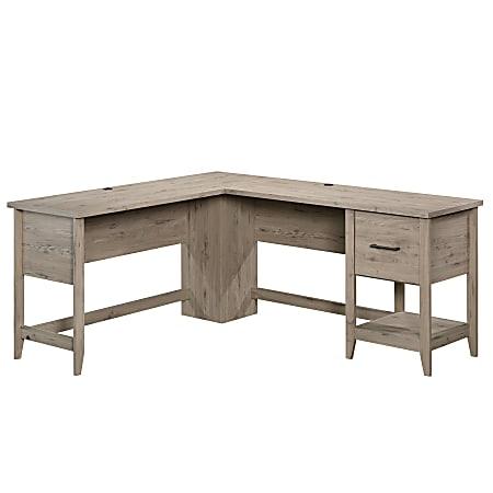 """Sauder® Summit Station 59""""W L-Shaped Desk, Laurel Oak"""