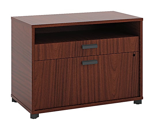 """basyx by HON® Manage 30""""W Lateral 2-Drawer File Cabinet, Metal, Chestnut"""