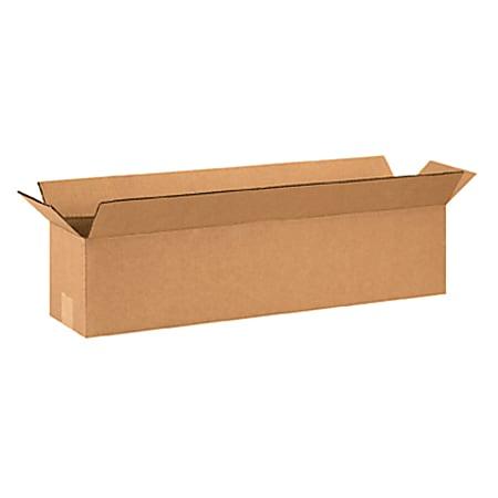 "Office Depot® Brand Long Corrugated Boxes, 26"" x 6"" x 6"", Kraft, Bundle of 25"